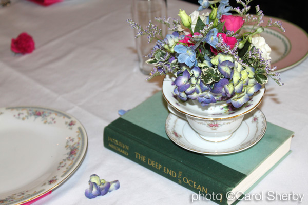 1950's vintage brunch centerpiece teacup