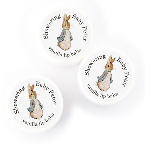 peter rabbit party favors lip balms