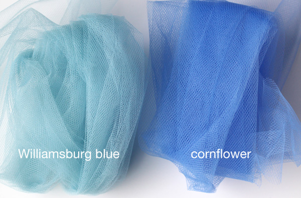 williamsburg blue and cornflower tulle