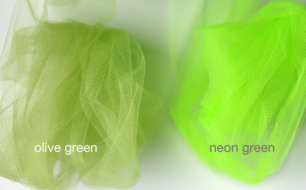 secret menu tulle olive green and neon green