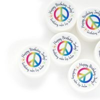 peace & rainbows party favor lip balms