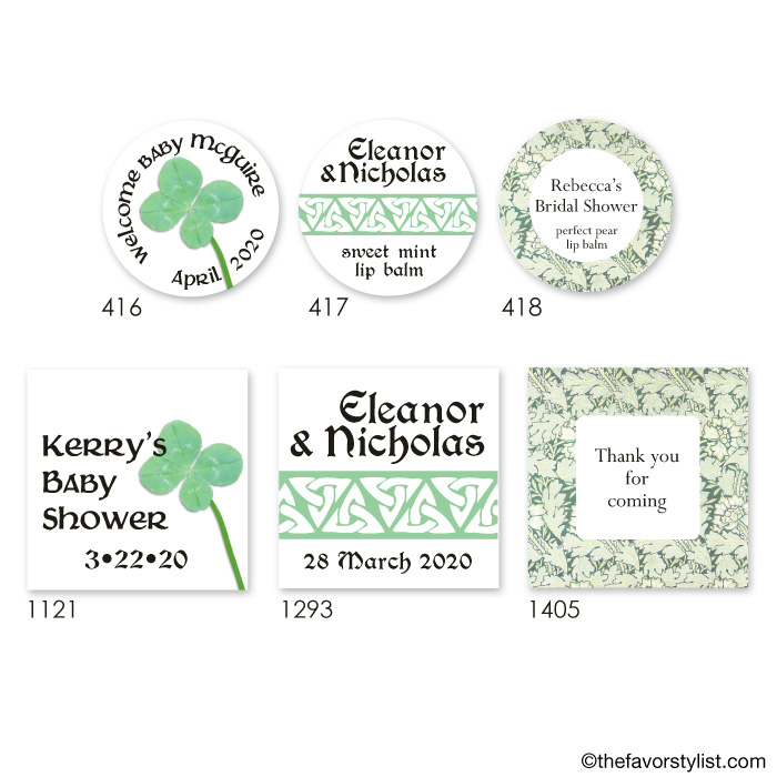 st patrick's day tags and labels