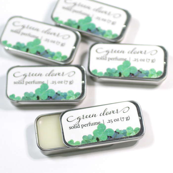 green clover solid perfume