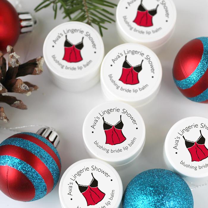 holiday lingerie lip balms