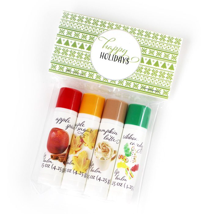holiday lip balm set