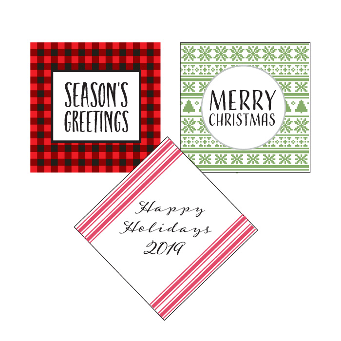 holiday favor tags