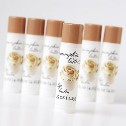 pumpkin latte lip balm