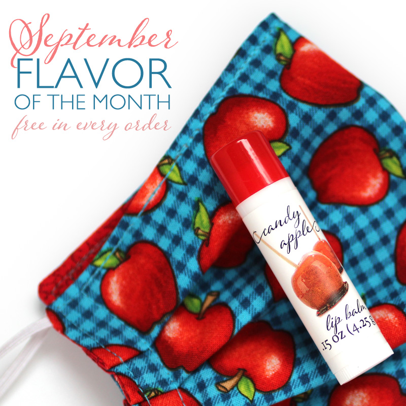 candy apple lip balm and mask