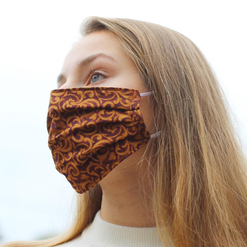 autumn mask modeled