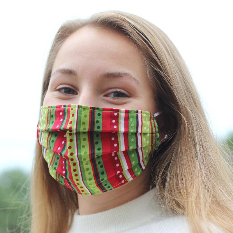holiday mask modeled