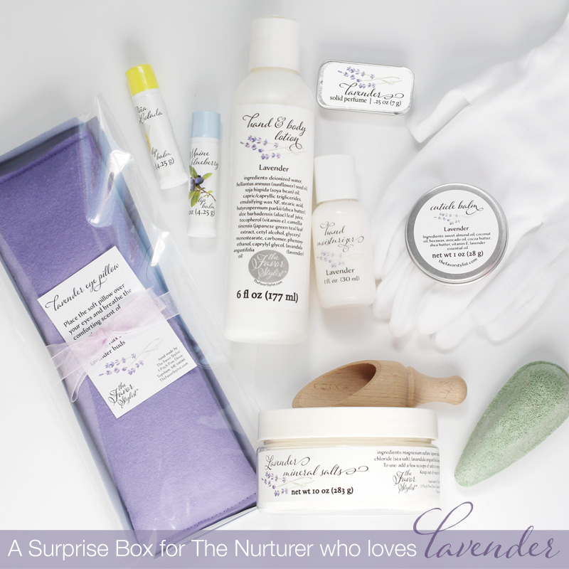 the nurturer surprise box lavender