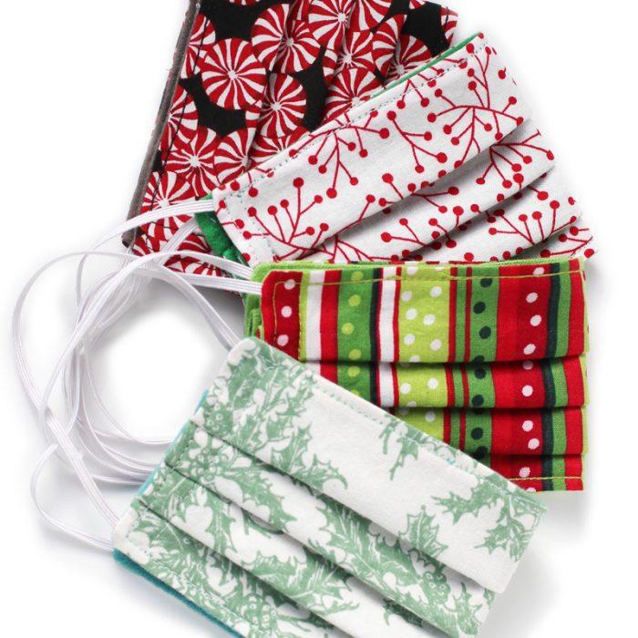 holiday fabric masks