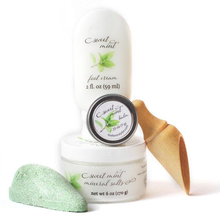 sweet mint pedicure