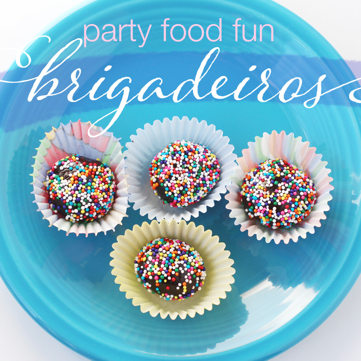brigadeiros fun party food