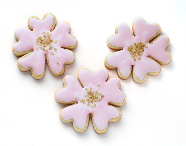 cherry blossom spring cookies from heart cutter