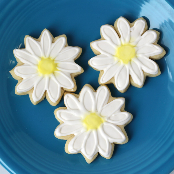 daisy cookies from heart cutter