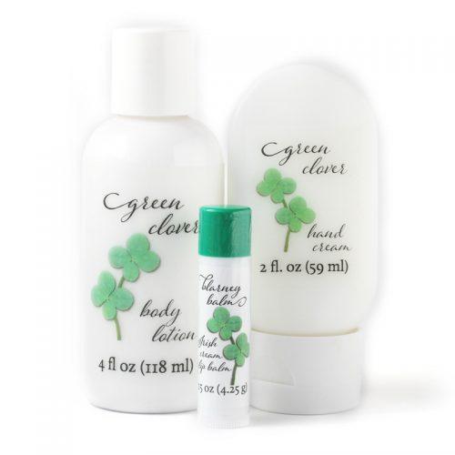 green clover moisturizers gift set