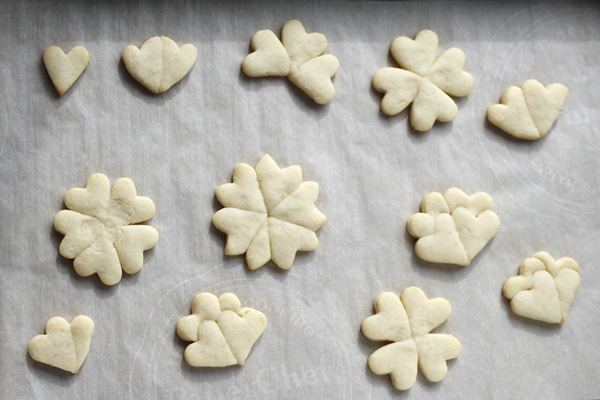spring cookies shapes from heart cutter