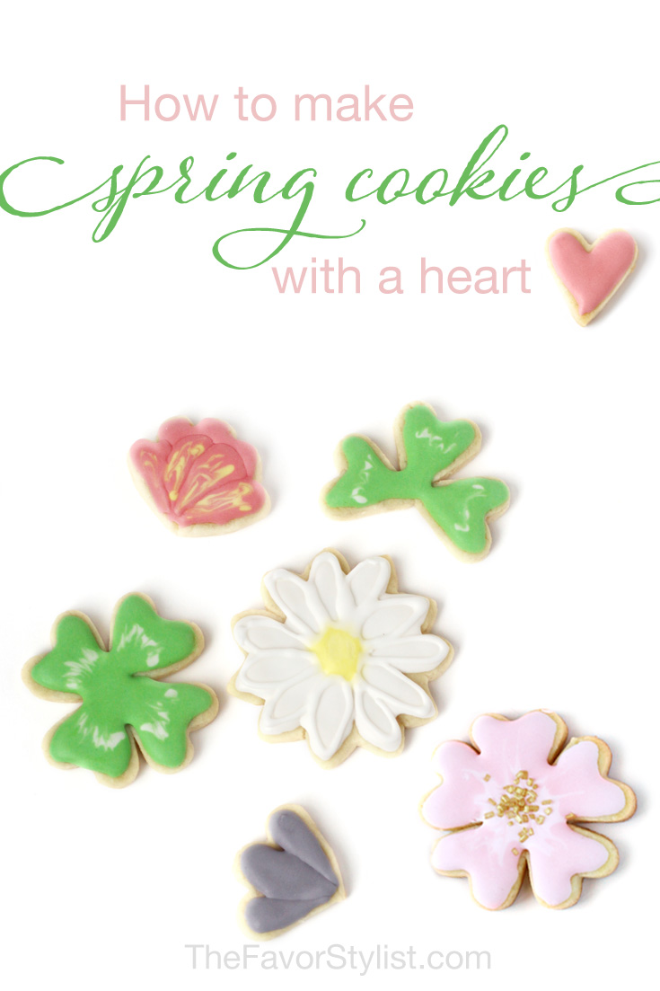 how to make spring cookies with a heart