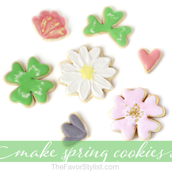 spring cookies with a heart